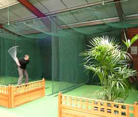 School college sports netting cricket cage golf club for Indoor cricket net design